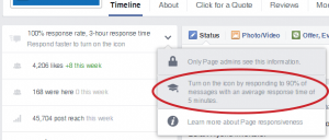 Facebook responsive icon